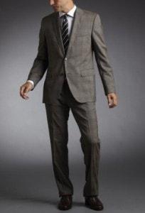 Hugo Boss Light Brown Plaid Suit