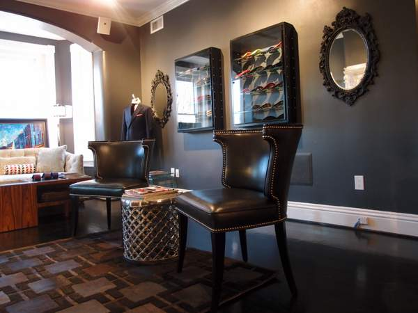 Leather chairs at Michael Andrews Bespoke