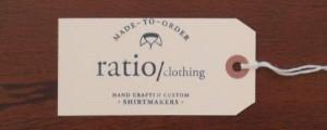 Ratio Clothing shirt tag