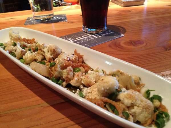 Roasted Cauliflower Salad at Euclid Hall Denver