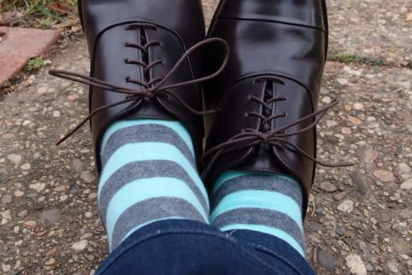 Nice-Laundry-green-and-grey-socks