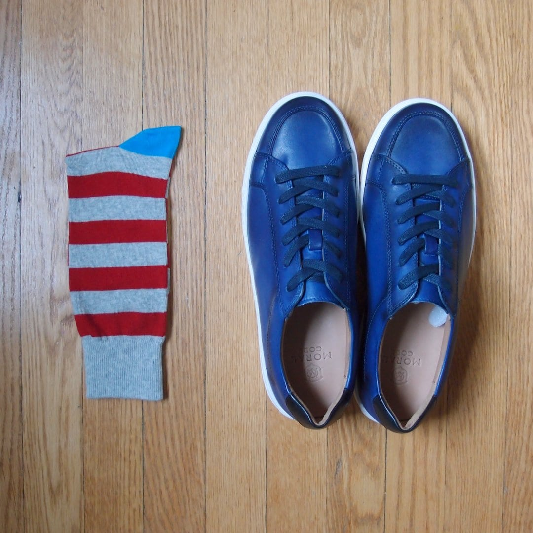 Moral code alec sneakers and amazon goodthreads socks