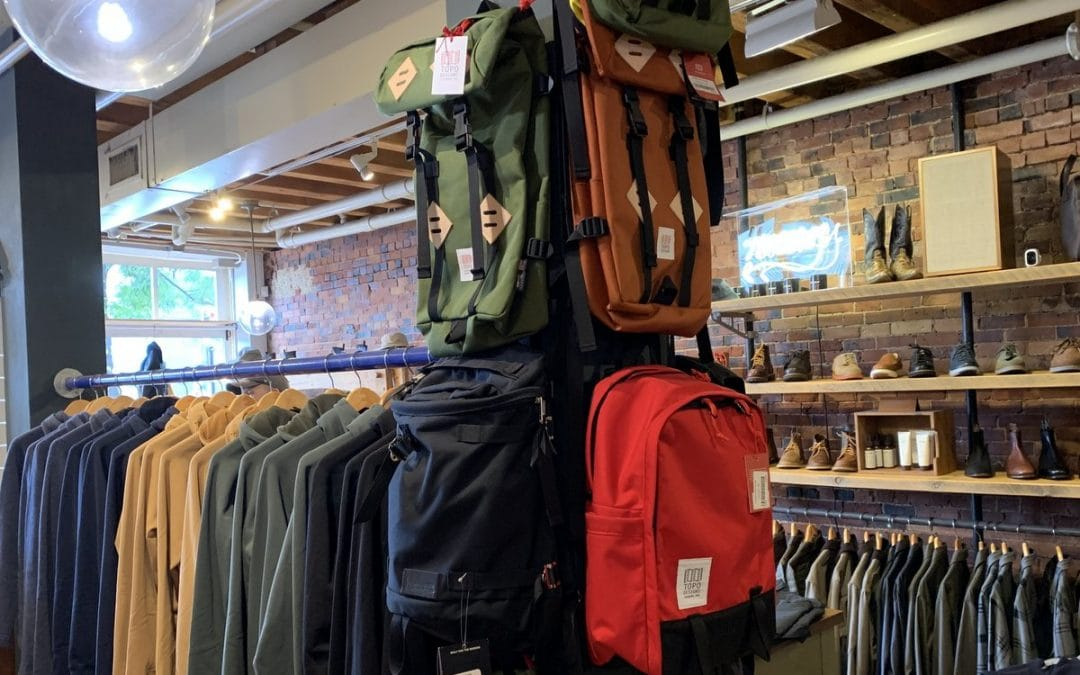 Topos Designs backpacks at Portland Dry Goods