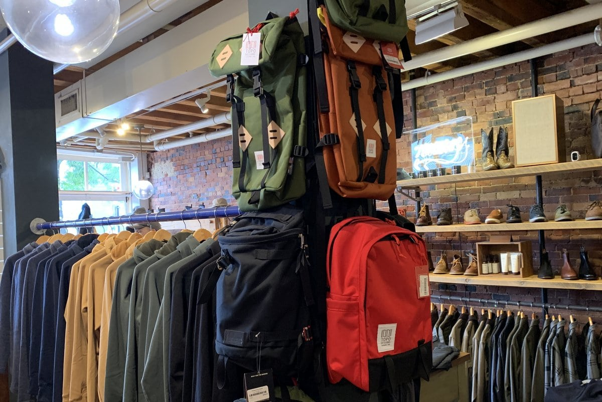 Reviewing Topo Designs: Local and Global; Made for Adventure and Work.