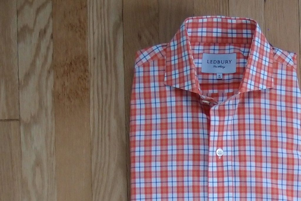 Ledbury-review-orange-plaid-button-down
