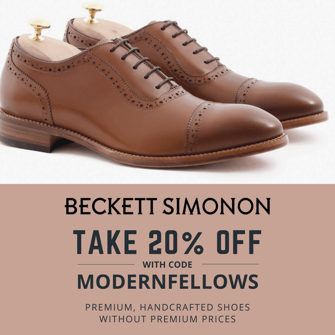 Beckett Simonon 20 percent off coupon using code MODERNFELLOWS