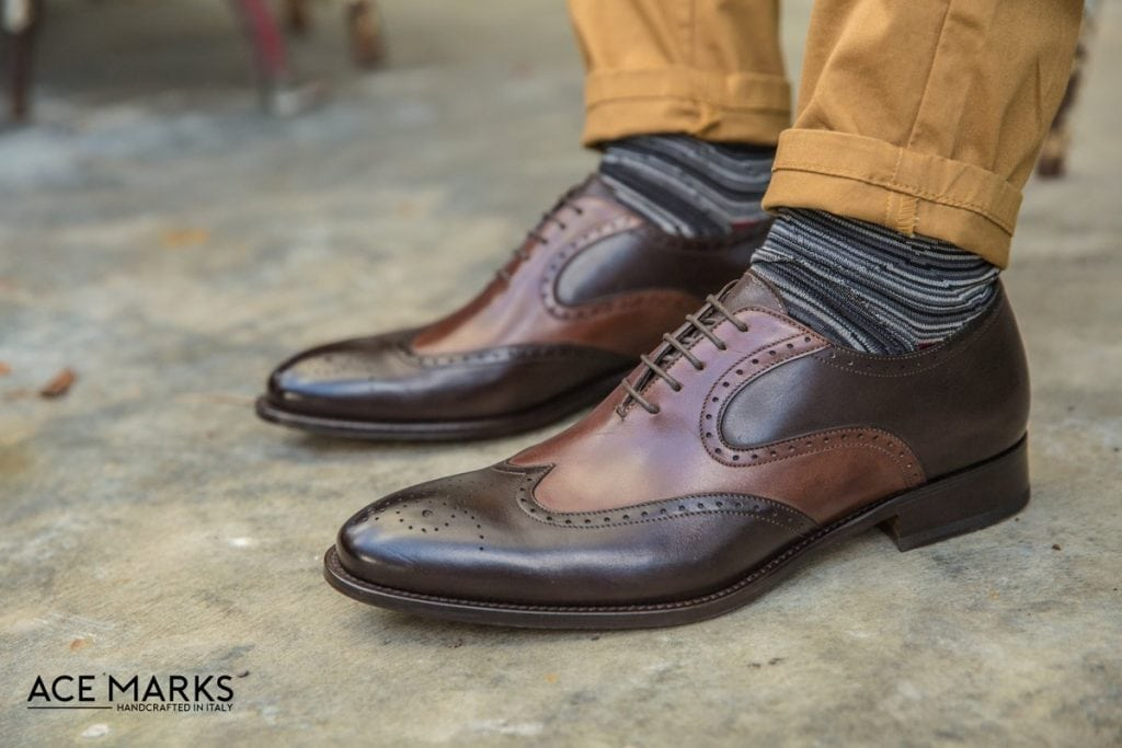 Ace Marks brown dress shoes