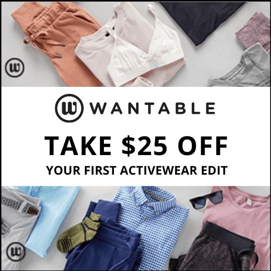 Wantable $25 discount coupon